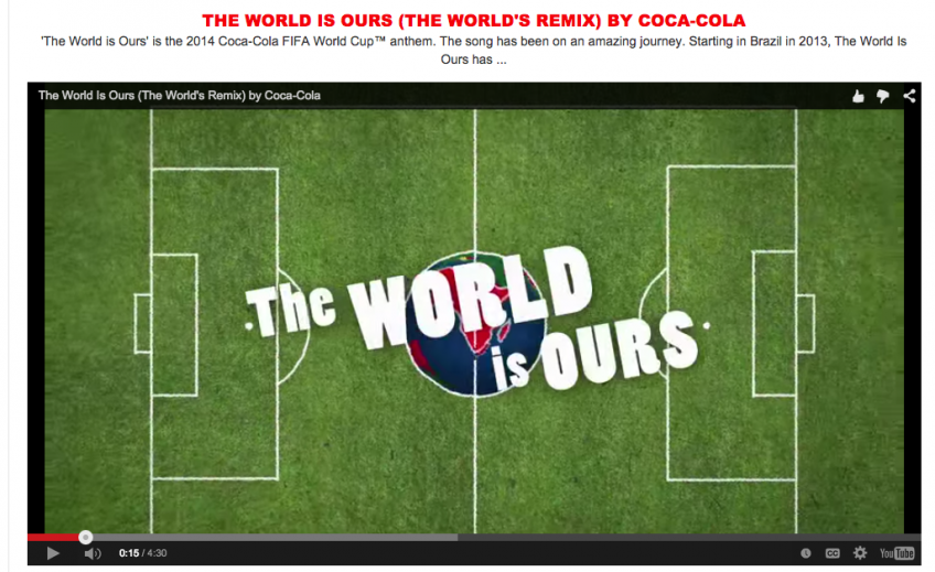 Coca Cola online video