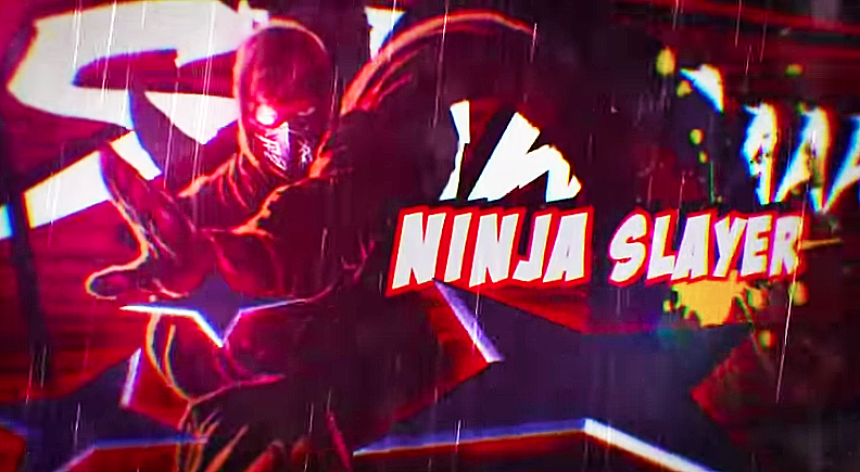 Screen Capture of Ninja Slayer Trailer video (below)