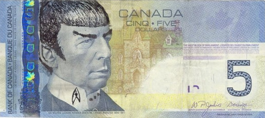 Canada destroys the value of the currency by money printing but they don't want you scribbling doodles on the money. Ironic?