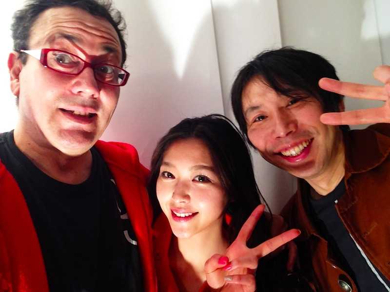Mike and Ken with beautiful model, Yuki Matsuo
