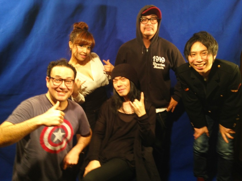 "Atsuo from the rock band, BORIS with ""The TV Show"" crew."