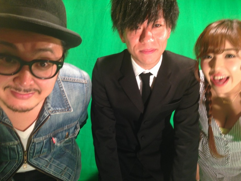 Taro and Mina with Takayuki Furukawa of The Pinballs