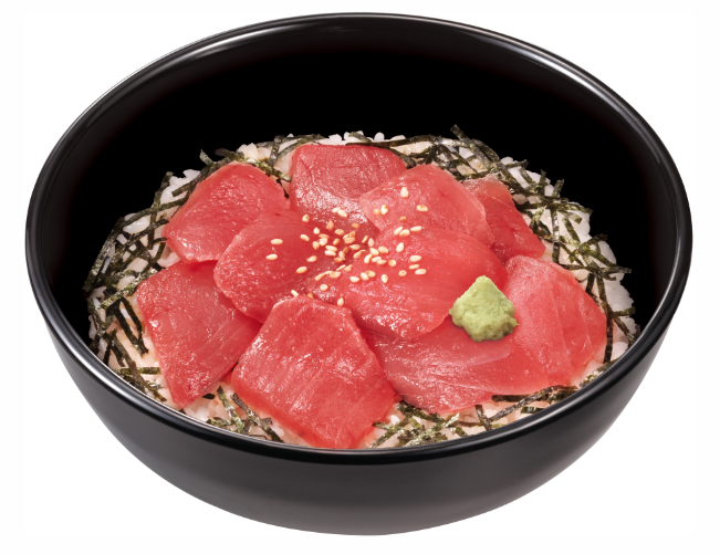 Sukiya Raw Tuna sliced on a bed of rice bowl