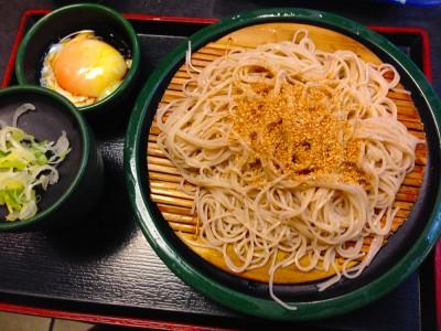 Yude taro soba and egg