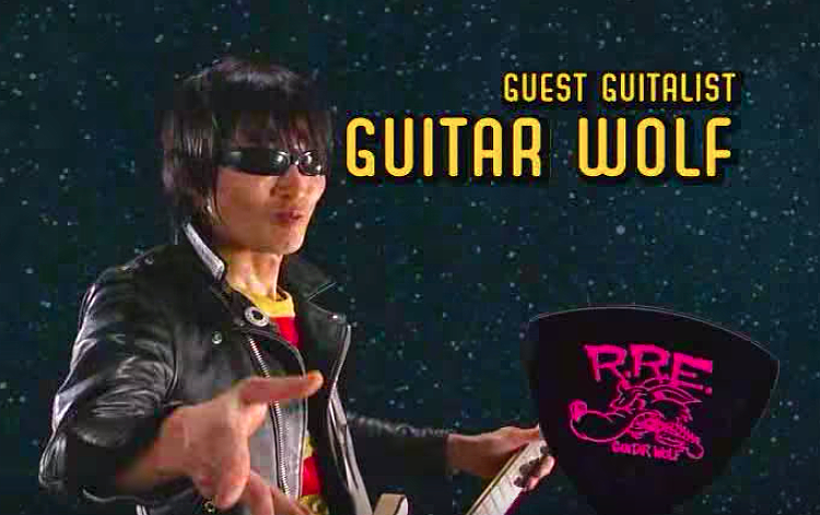 "Seiji of Guitar Wolf stars in the guitar solo for the theme song of Teen Titans... They spelled it ""Guitalist""????"