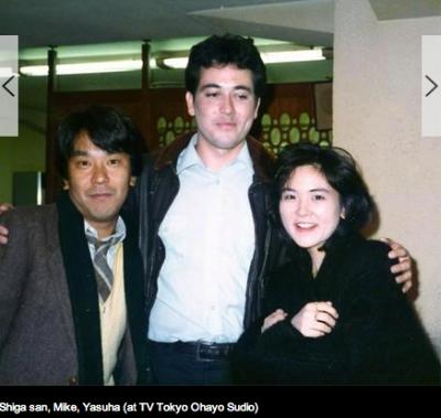 "Shiga san and Yasuha Ebina, hosts of TV Tokyo's ""Ohayo Studio"""